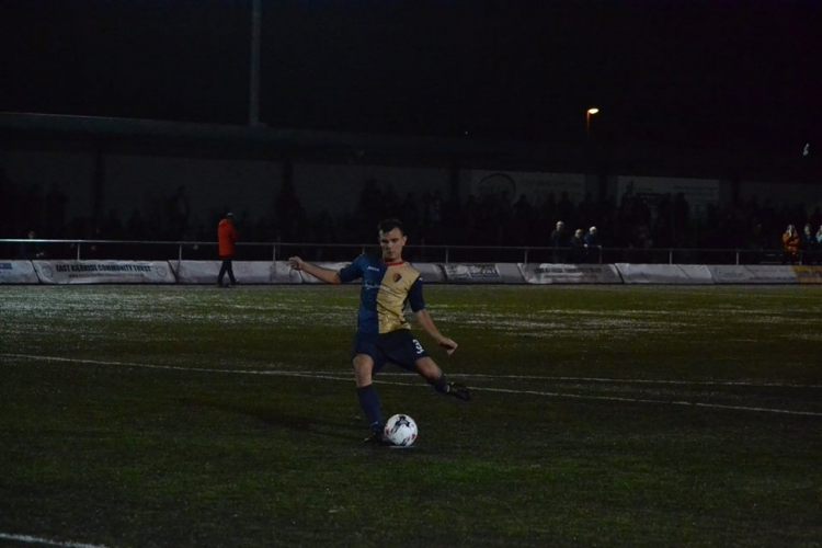 BJ Coll strokes home the winning penalty in August.