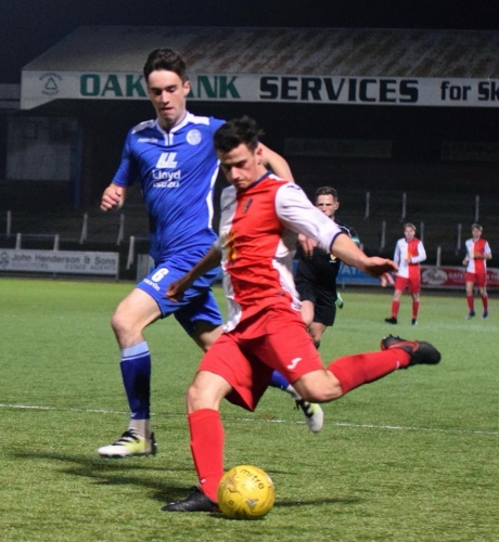 Substitute Jay McInally was a thorn in the side of Rovers, and netted EK's first goal.