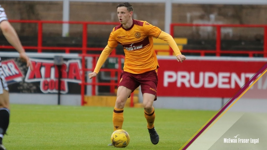 Jordan Armstrong in action for Motherwell