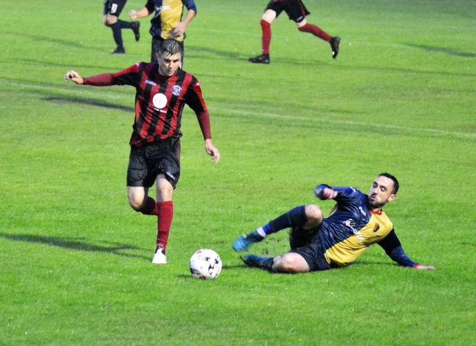 Anton Brady in action away to Dalbeattie on a previous visit.
