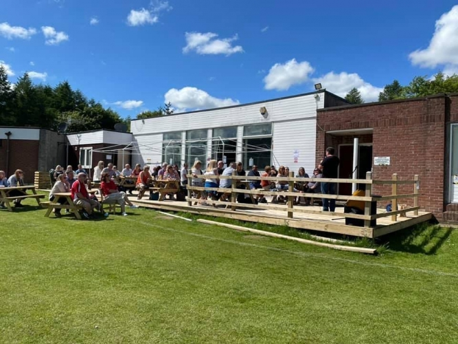 The Sports Club has indoor and outdoor seating area's