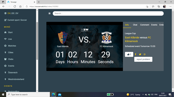 When logging back in to your account after purchase, the timer will count down until the stream goes live on Saturday