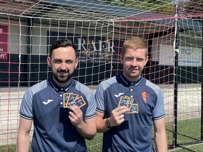Anton Brady and Craig Malcolm showing off this years Season Ticket offering