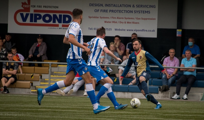 Anton Brady in action against Kilmarnock in July